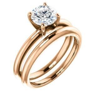 Natural 5.02 CTW Round Cut Diamond Solitaire Engagement