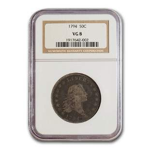 1794 Flowing Hair Half Dollar VG-8 NGC