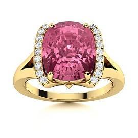 Natural 2.66 CTW Tourmaline & Diamond Engagement Ring