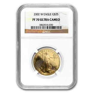 2002-W 1/2 oz Proof American Gold Eagle PF-70 NGC