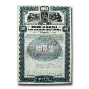 $1000 Gold Bond - Northern Alabama Coal, Iron and