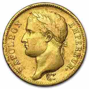 1812-A France Gold 40 Francs Napoleon I XF