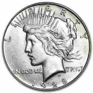 1928-S Peace Dollar AU-58
