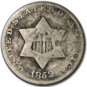 1852 Three Cent Silver Good