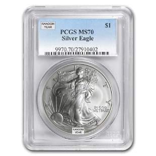 1 oz American Silver Eagle MS-70 PCGS (Random Year)