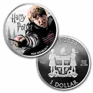 2020 Fiji 1 oz Proof Silver Harry Potter Characters: