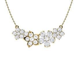 3.06 ctw Diamond Necklace 18K Yellow Gold