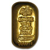 50 gram Gold Bar - PAMP Suisse (Cast-Poured)