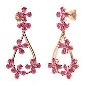 10.56 CTW Pink Tourmaline Chandelier Earrings 18K Rose