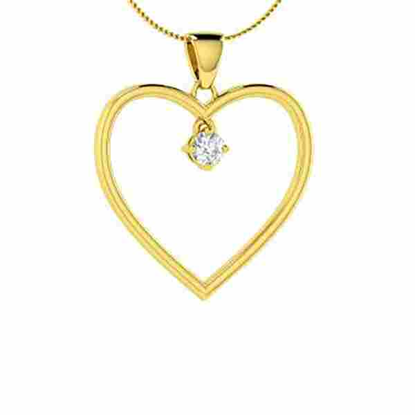 0.12 ctw Diamond Necklace 14K Yellow Gold