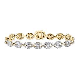 Mens Diamond Gucci Link Fashion Bracelet 5-5/8 Cttw