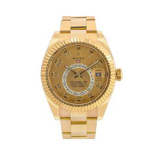 Rolex Sky-Dweller 326938 42MM Champagne Dial With