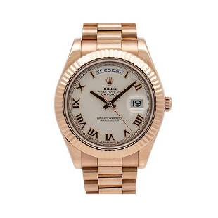 Rolex Day-Date II 218235 41MM Silver Dial With Rose