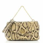 Gucci Thiara Double Shoulder Bag Python and Leather