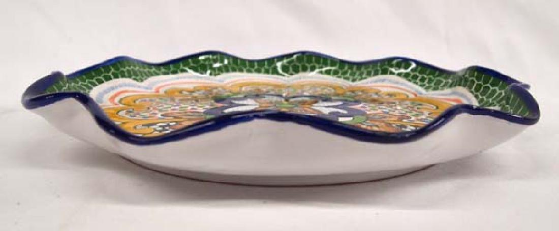 Mexican Talavera Pottery Tray - 2