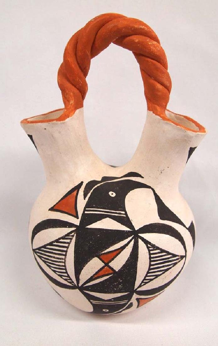 1970 Native American Acoma Pottery Wedding Vase