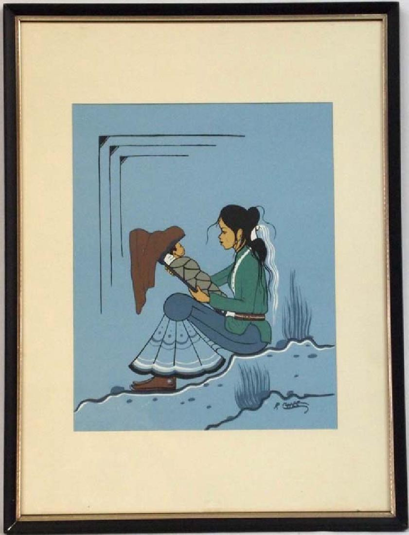 Navajo Robert Chee Signed Serigraph