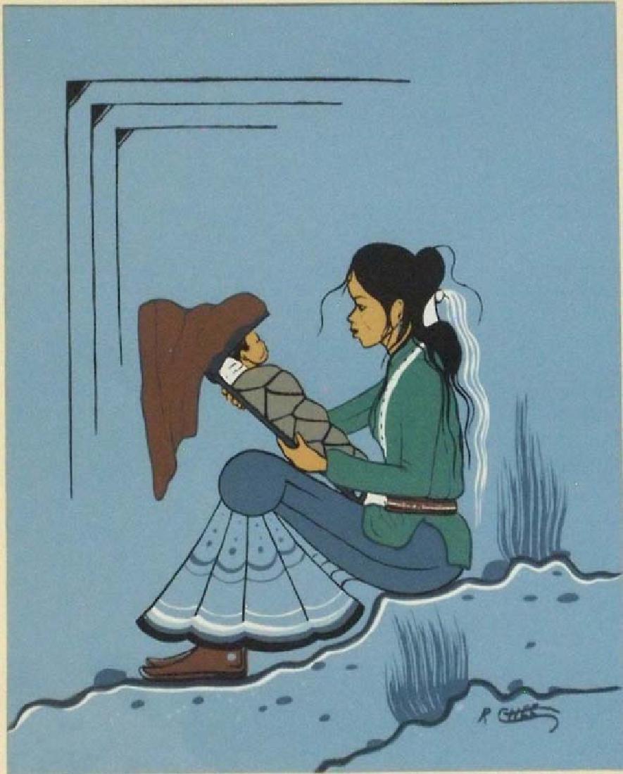 Navajo Robert Chee Signed Serigraph - 2