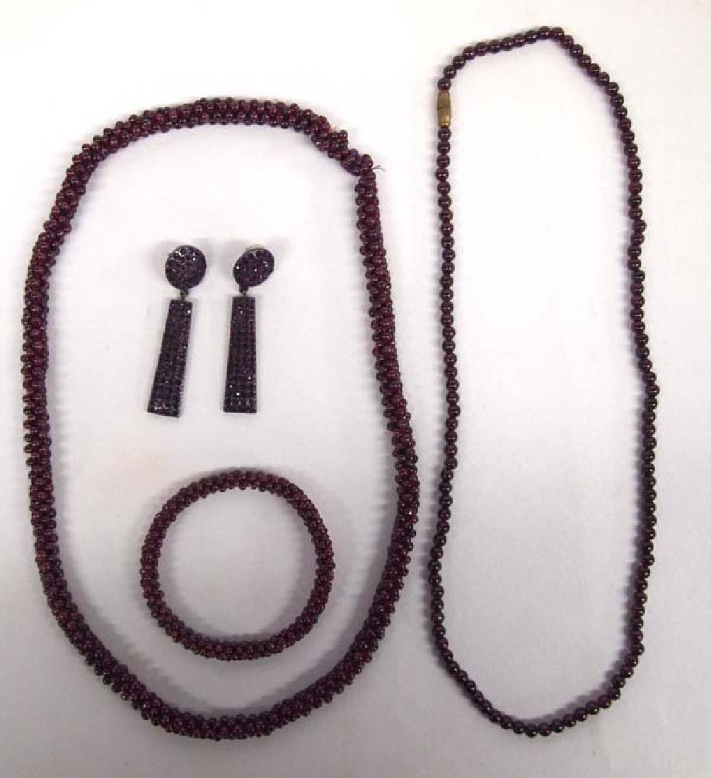 4 Pieces of Garnet Jewelry