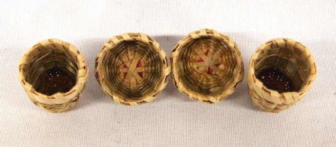 2 Native American Mohawk Thimble Baskets - 2