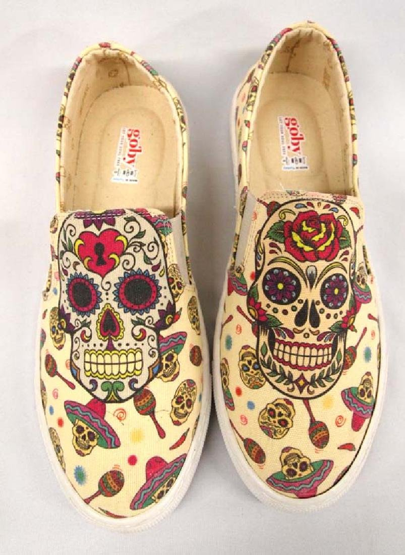Goby Day of the Dead Slip On Tennis Shoes