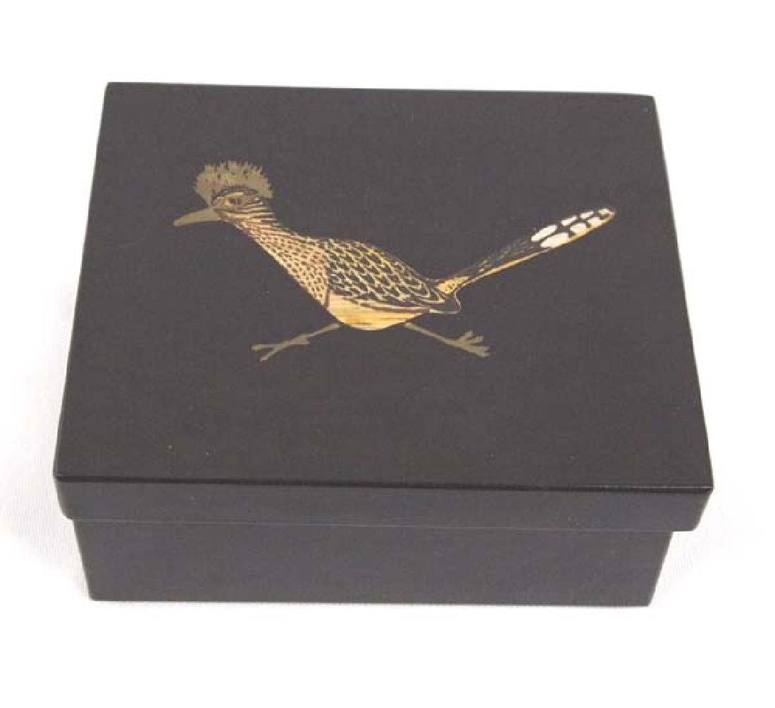 Vintage Couroc Lidded Roadrunner Box