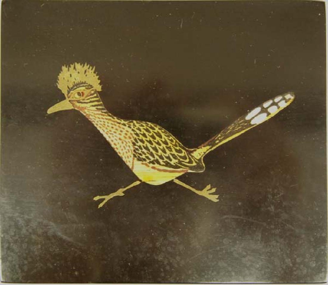 Vintage Couroc Lidded Roadrunner Box - 2