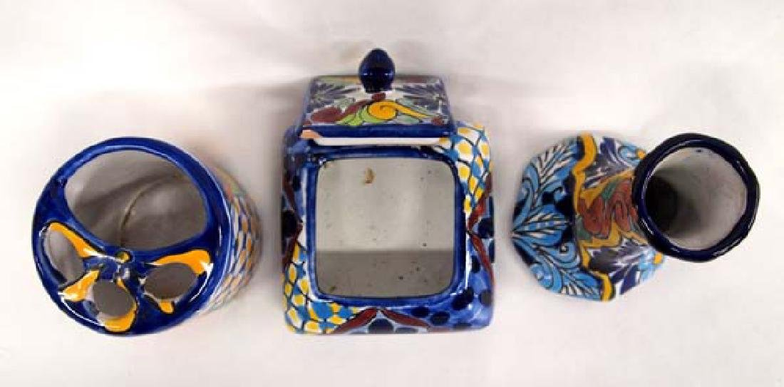 3 Mexican Talavera Pottery Pieces - 2