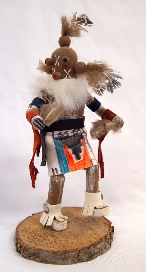 Navajo Carved Mudhead Kachina, Signed