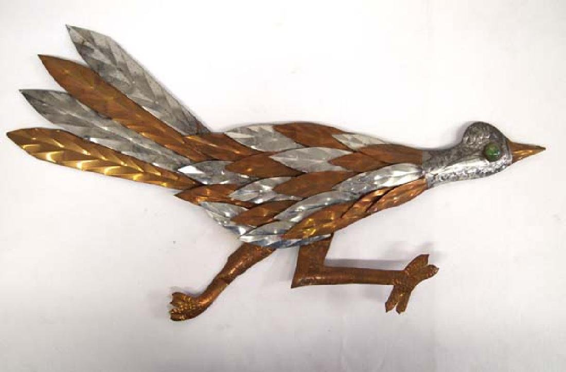 Mexican Copper and Silver Metal Roadrunner