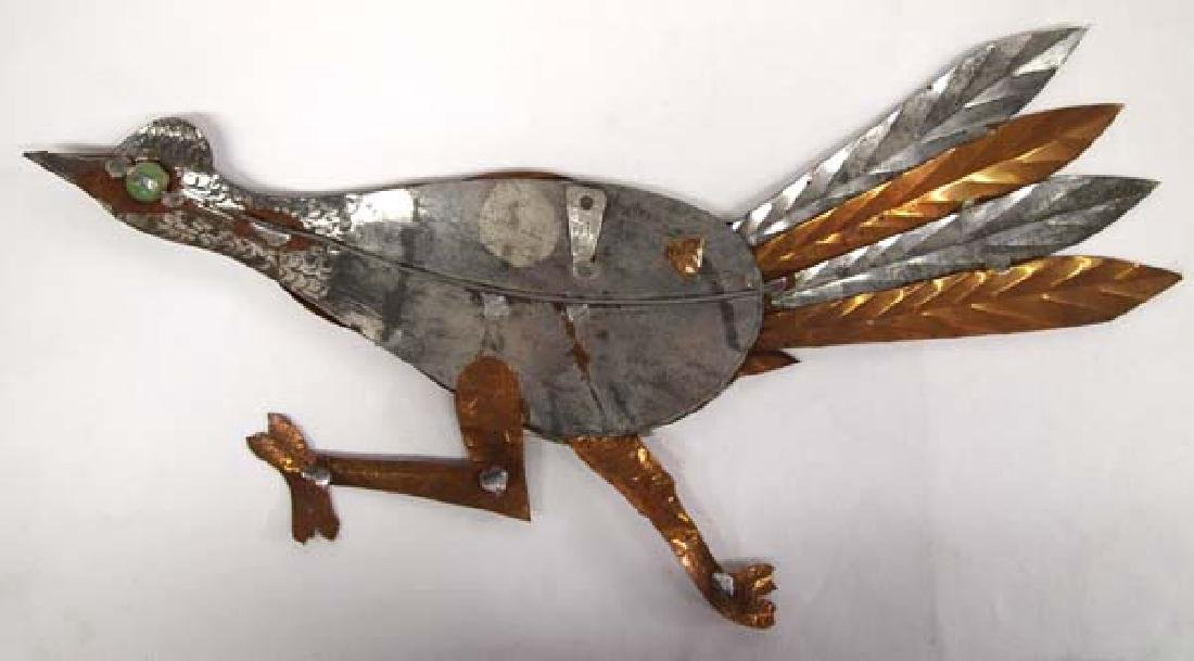 Mexican Copper and Silver Metal Roadrunner - 2