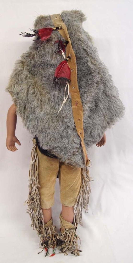 Large Porcelain Native American Doll, Full Regalia - 2
