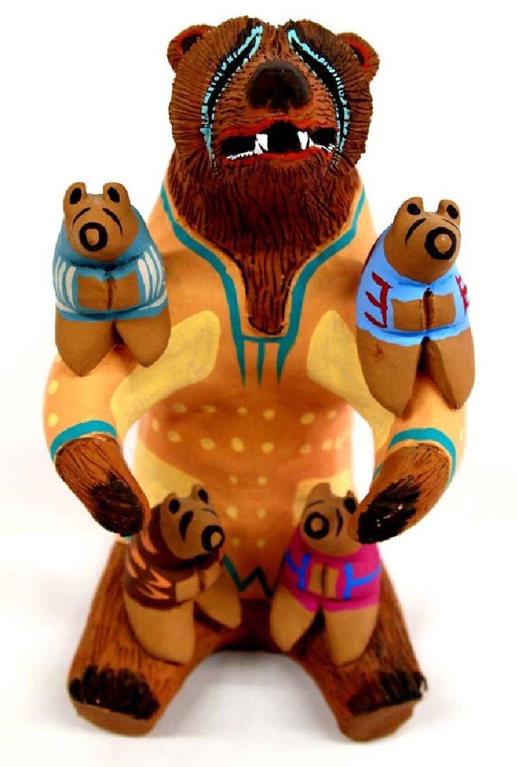 1992 Blackfoot Pottery Bear Storyteller by Cockrum