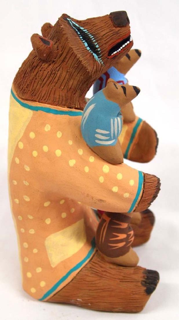 1992 Blackfoot Pottery Bear Storyteller by Cockrum - 4