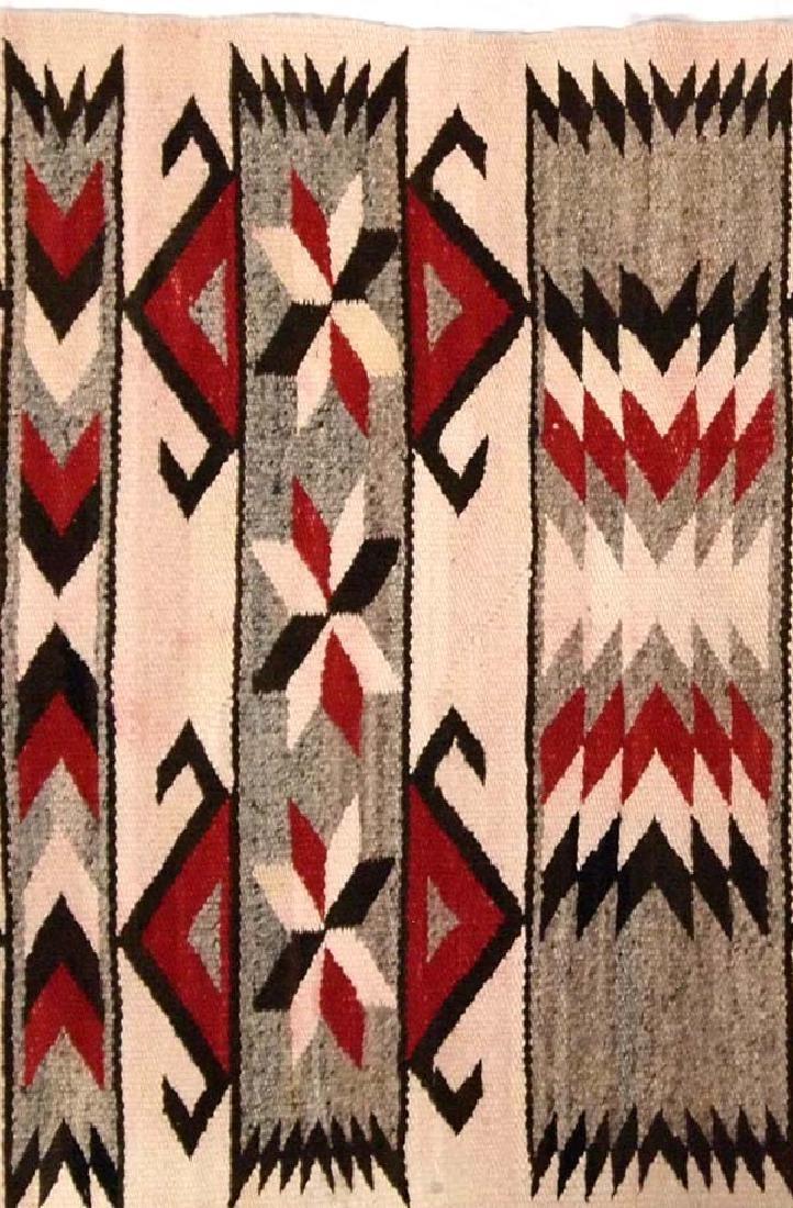 Vintage 1930-1940 Navajo Wool Textile Rug - 2