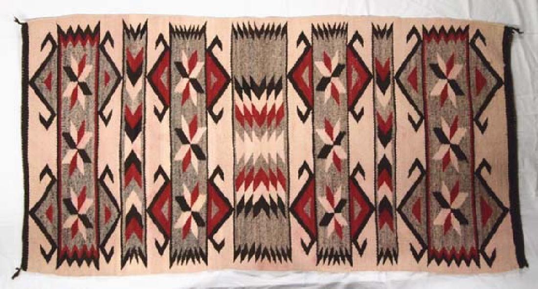Vintage 1930-1940 Navajo Wool Textile Rug - 3