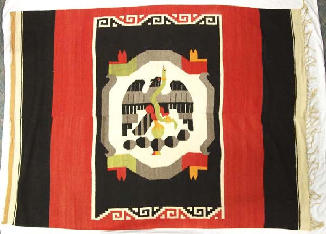Beautiful Vintage Mexican Fringed Textile