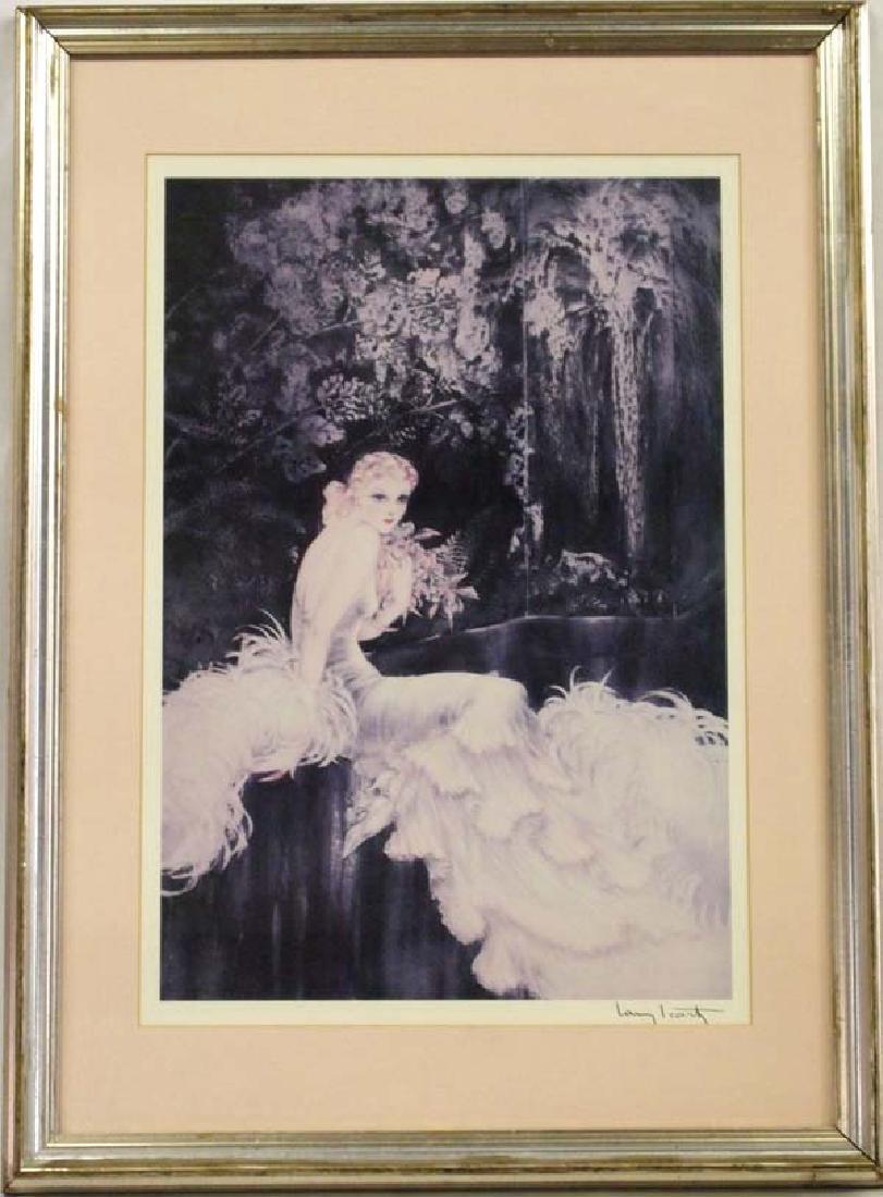 Large Framed Louis Icart Print ''Orchids''