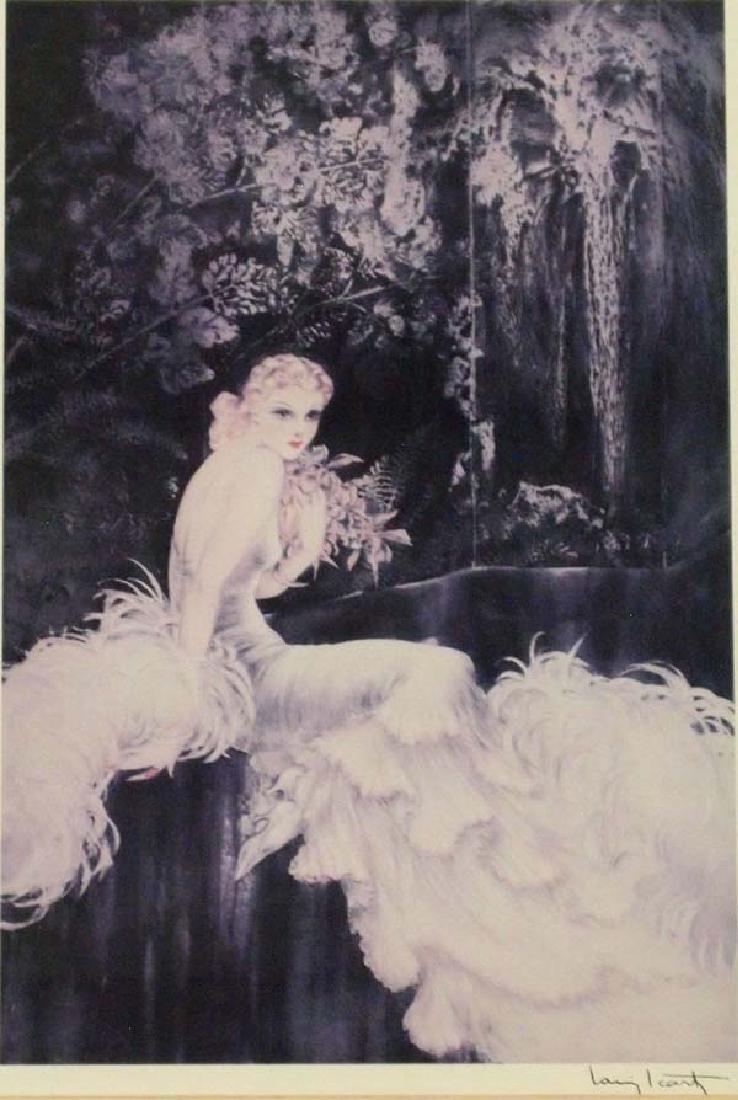 Large Framed Louis Icart Print ''Orchids'' - 2