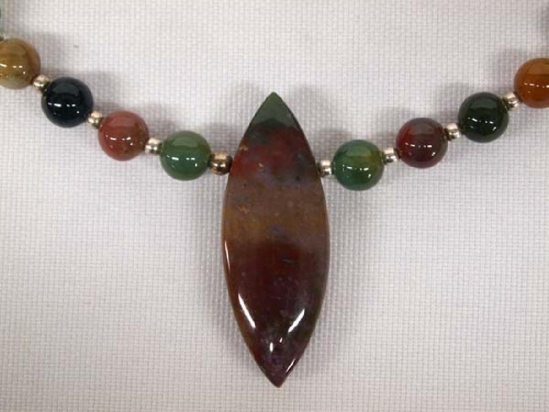 Jasper Agate Necklace, Earrings & Bracelet Set - 2