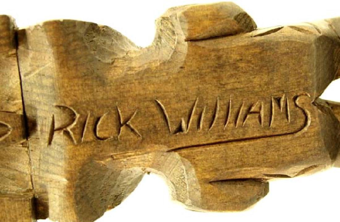 Native American Northwest Coast Carved Wood Totem - 2