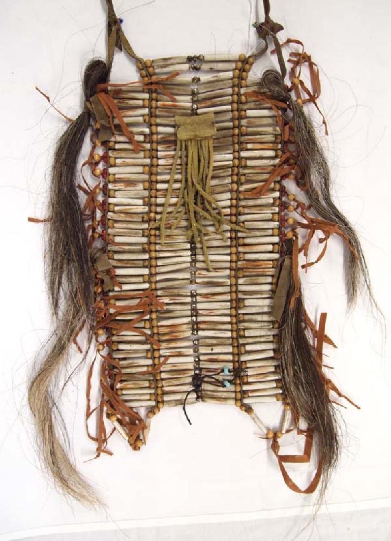 Native American Hare Pipe Bone Breast Plate - 2