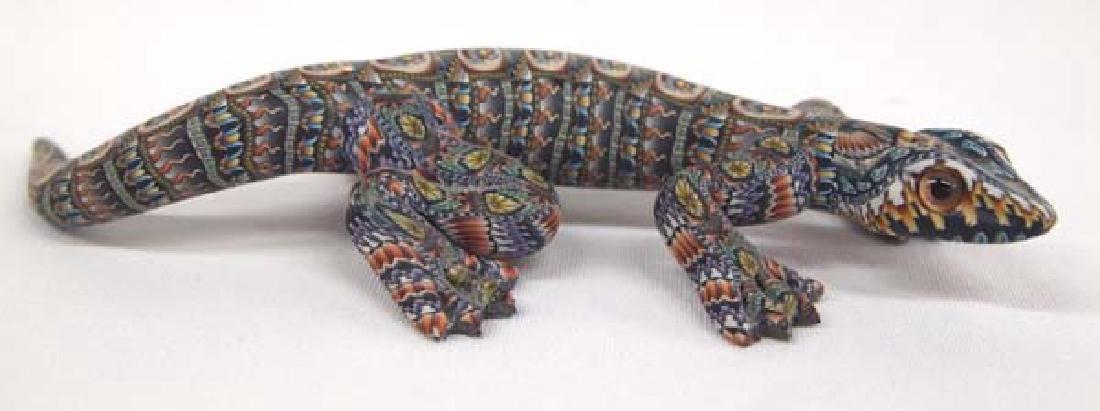 Fimo Polymer Clay Lizard by Jon Stuart Anderson