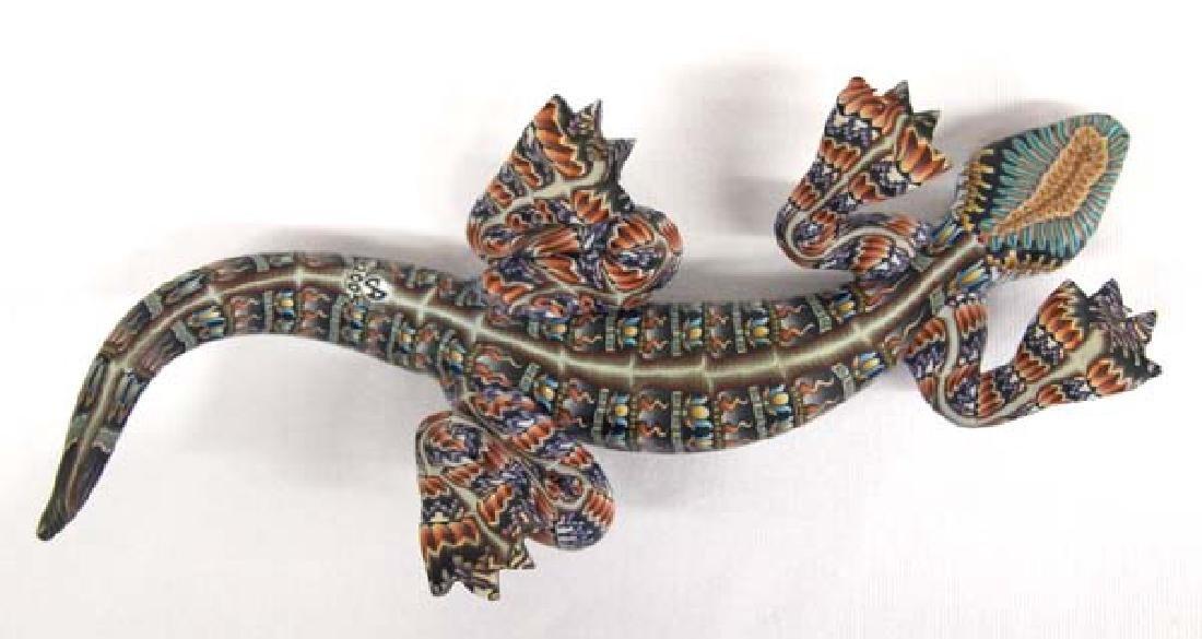 Fimo Polymer Clay Lizard by Jon Stuart Anderson - 3