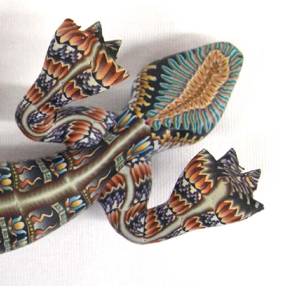 Fimo Polymer Clay Lizard by Jon Stuart Anderson - 4