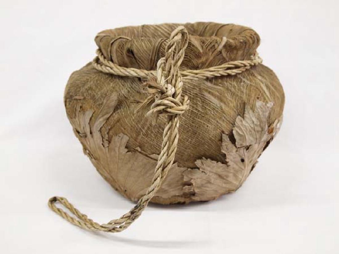 Large Palmetto Fiber and Leaf Basket