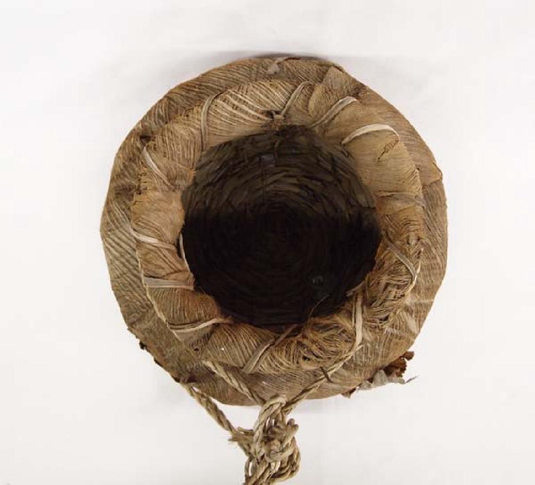 Large Palmetto Fiber and Leaf Basket - 2