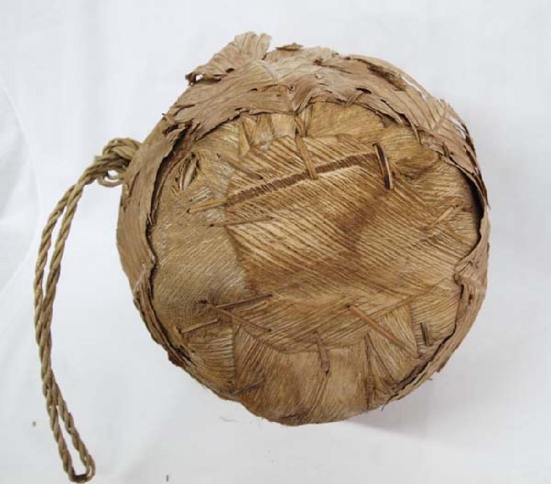 Large Palmetto Fiber and Leaf Basket - 3