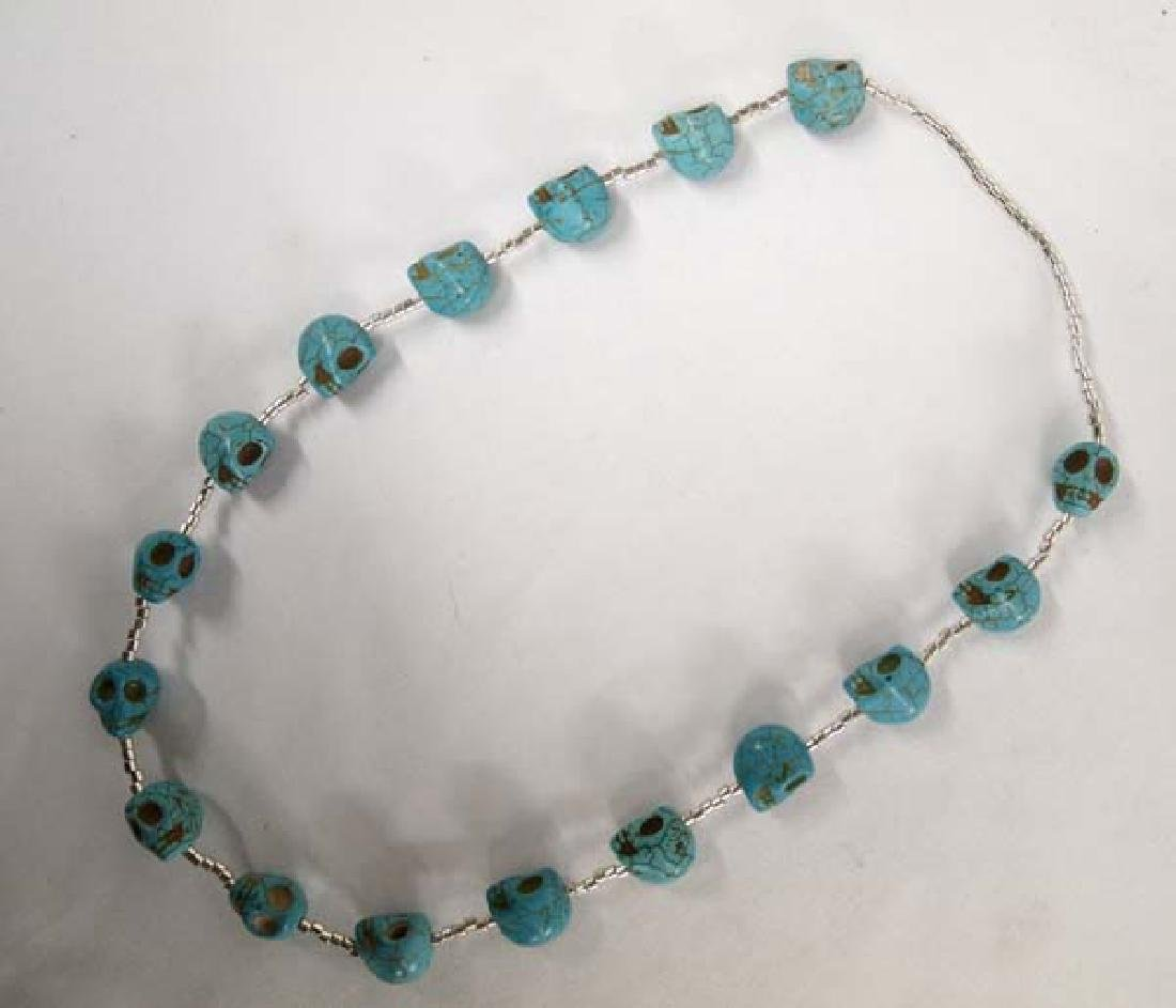 Turquoise Skull Necklace - 2