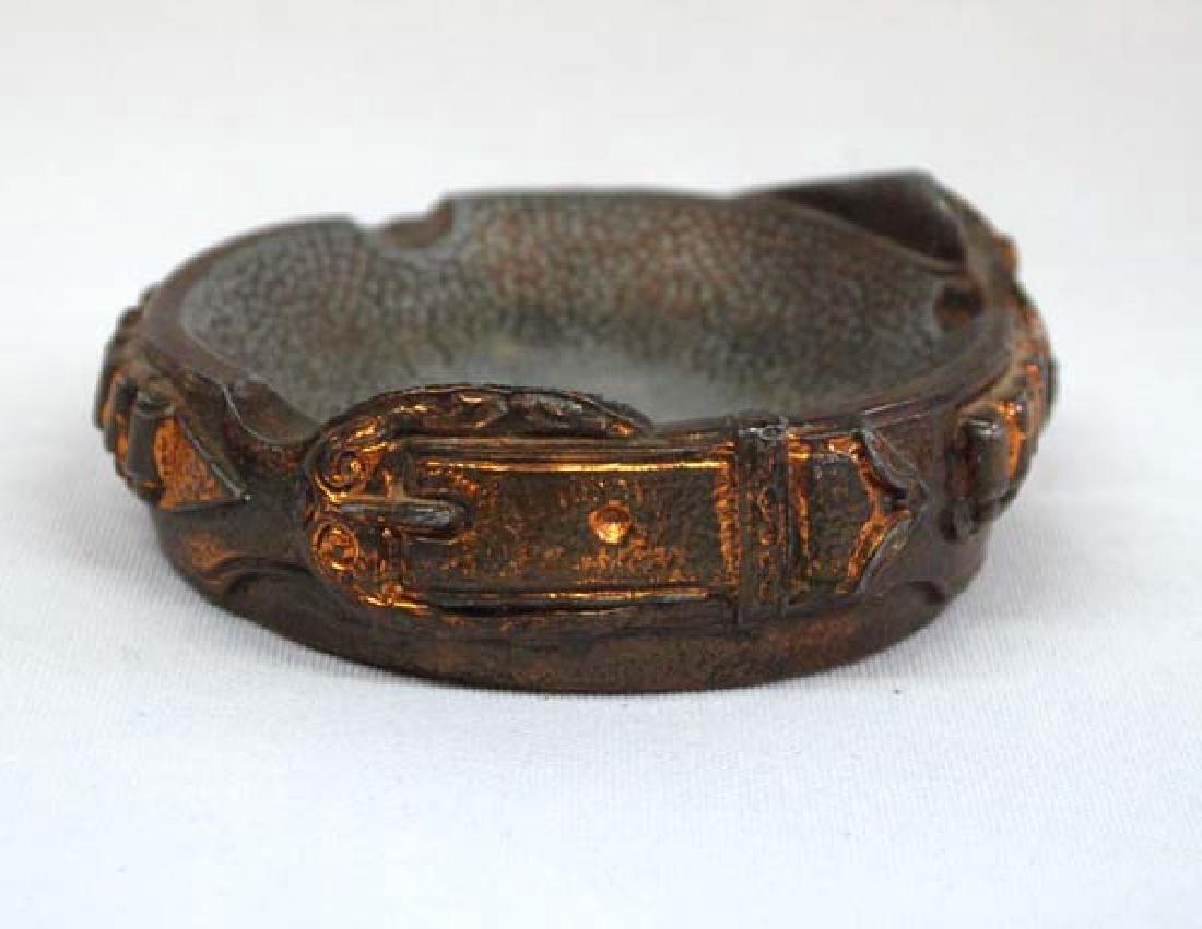 1930's Copper Gun Belt Ashtray